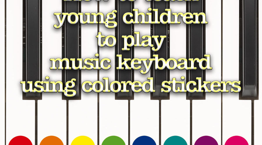 image about Piano Key Stickers Printable called How towards train youthful young children toward participate in songs keyboard having