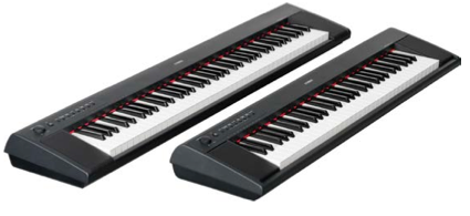 yamaha piaggero NP-31 NP-11 ultraportable digital pianos