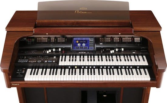 Roland Atelier AT-900 Platinum Edition organ top view