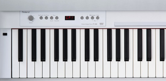 roland intros f 120 digital piano namm12 piano and synth magazine. Black Bedroom Furniture Sets. Home Design Ideas