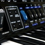 Roland FR-1x V-Accordion Black USB closeup view