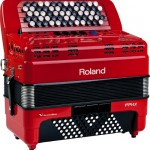 Roland FR-1x V-Accordion Red closed view