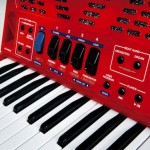 Roland FR-1x V-Accordion Red closeup view