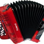 Roland FR-1x V-Accordion Red open view
