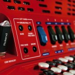 Roland FR-1x V-Accordion Red USB port closeup view