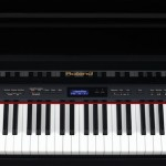 Roland LX-15 digital piano top view keyboard