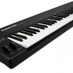 Alesis Q61 controller keyboard side view