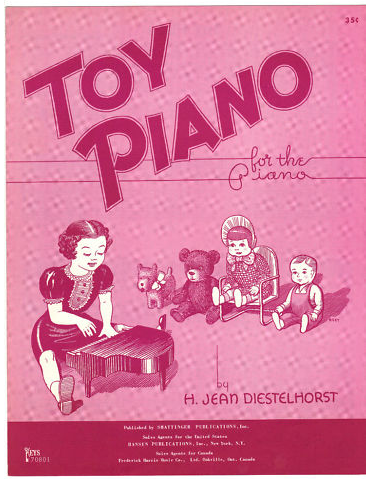 Toy Piano by H Jean Diestelhorst sheet music 1960 for the Piano