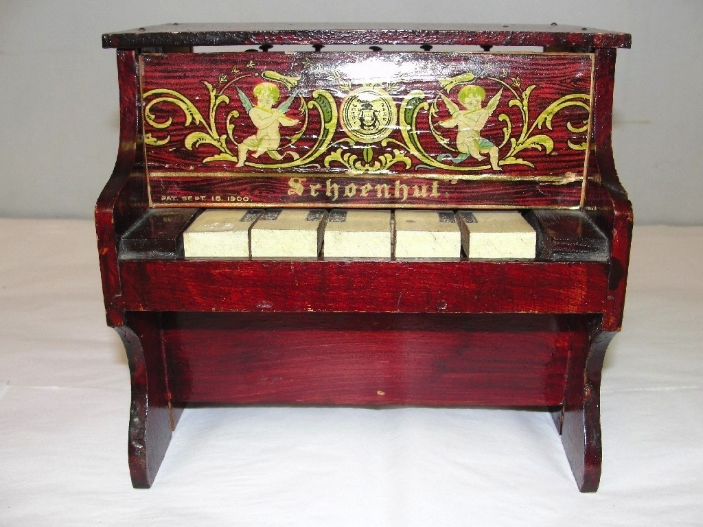 1900 SCHOENUT SMALL TOY PIANO