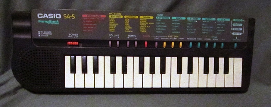 Casio SA-5 keyboard piano circuit bending toy