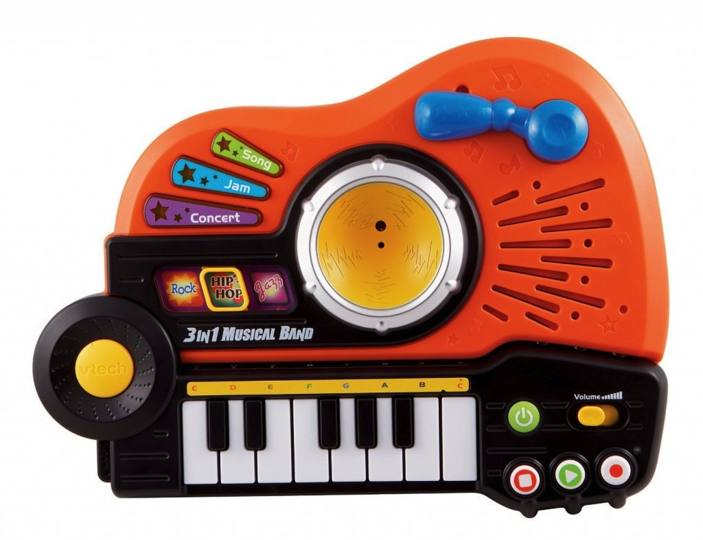 Instrument Music VTech - 3-in-1 Musical Band Kid Toy Guitar Piano