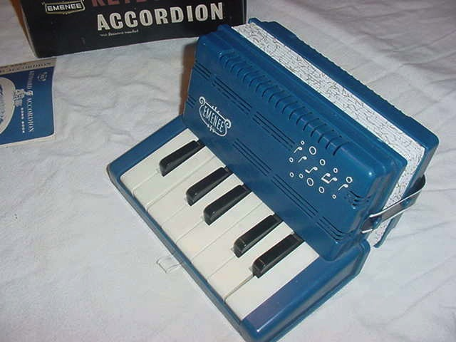 Vintage Childs Emenee Blue Keyboard Accordion
