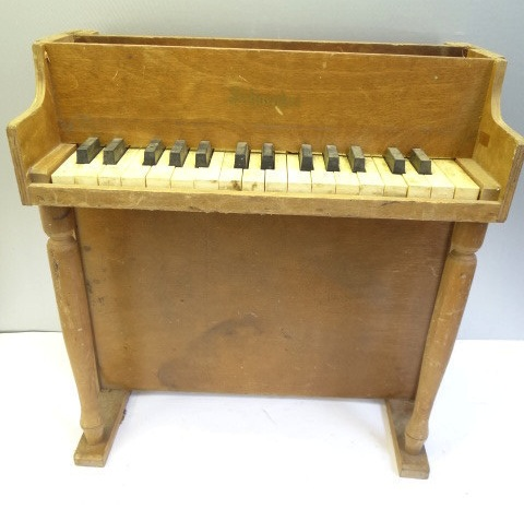 Vintage Old Wooden Schoenhut Childrens Toy Piano
