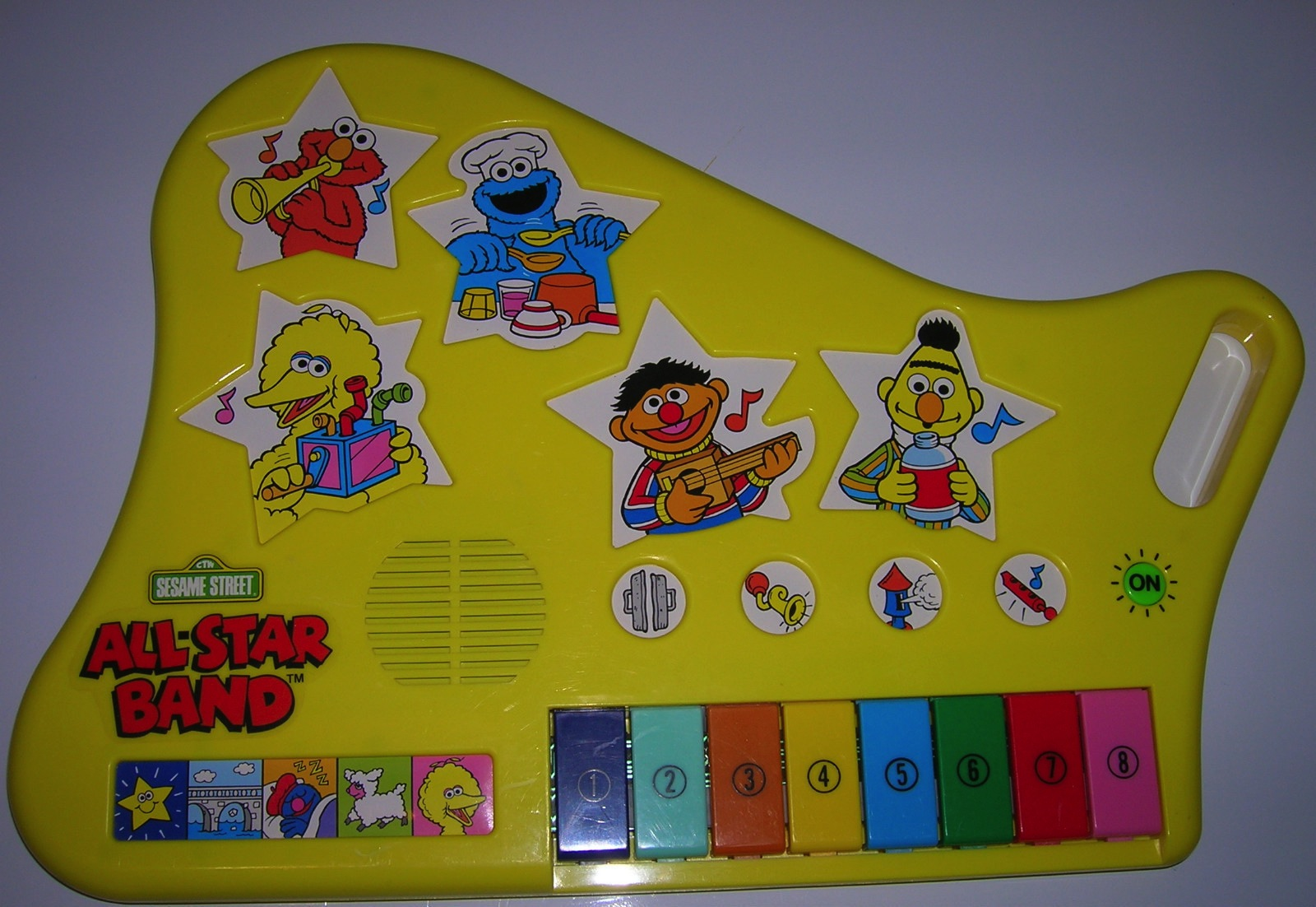 Sesame Street Musical Toys : Colourful cool weird novelty vintage toy