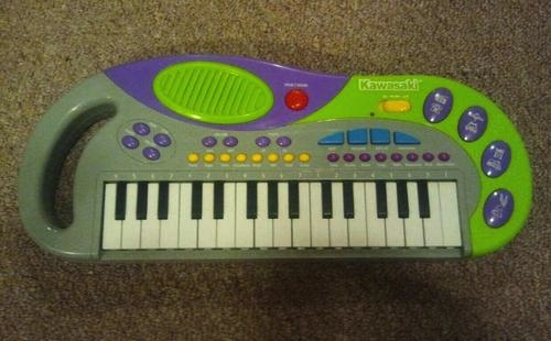 Vtg 90s Kawasaki Keyboard DSI Toys 57758 Lime Green Purple Grey Hip Hop Retro