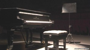 Steinway grand piano at the Jersey Opera House