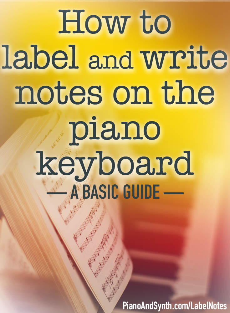 How to label and write notes on the piano keyboard: a basic
