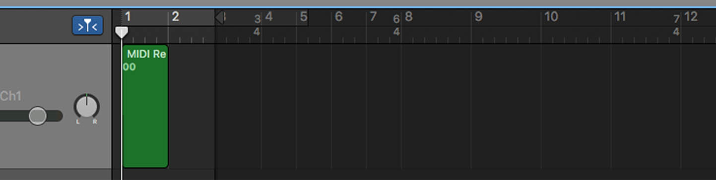 Closer view of GarageBand time signatures