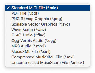 Save as a standard MIDI file