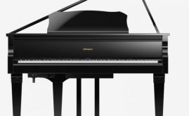 Roland GP609 digital grand piano front view