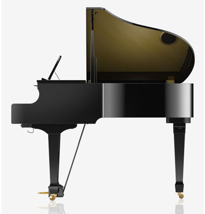 Roland GP609 digital grand piano side view